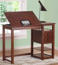 Drafting and Craft Desk: Espresso