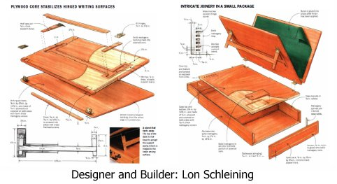 small writing desk plans